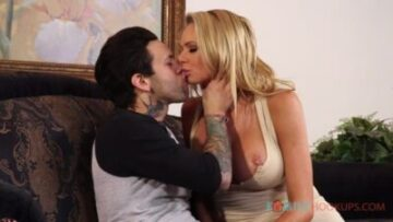Busty blonde milf Briana Banks gets railed by her hung stepson