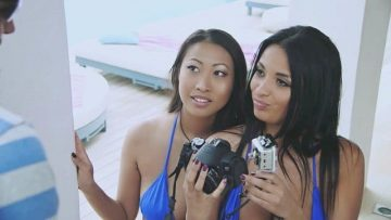Anissa Kate and Sharon Lee Best Friends Share Cocks